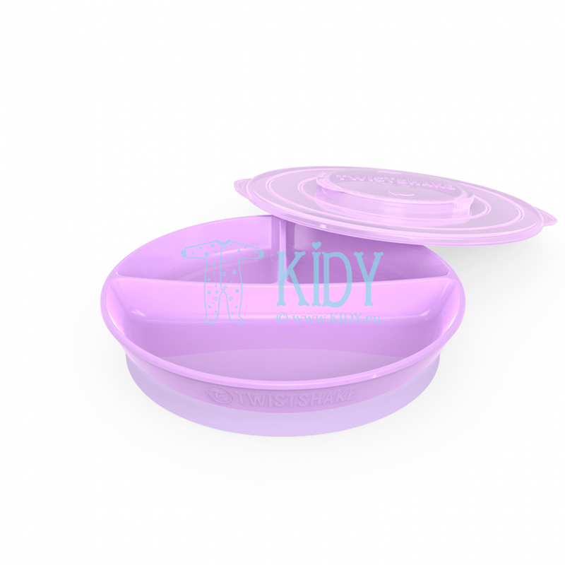 Divided LAVANDER plate with lid