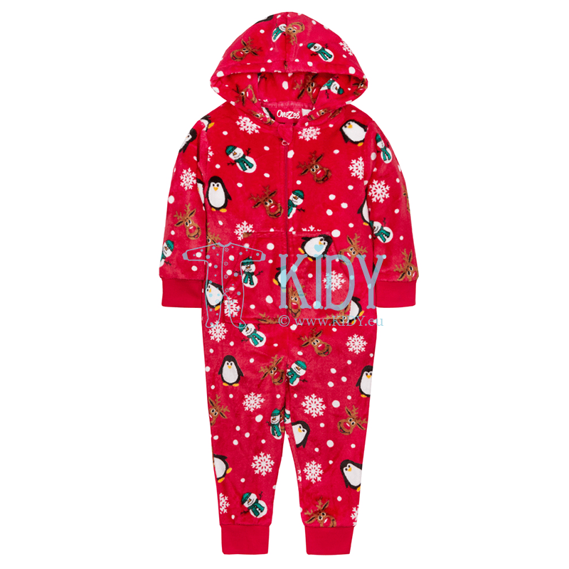 Red CHRISTMAS AOP onesie