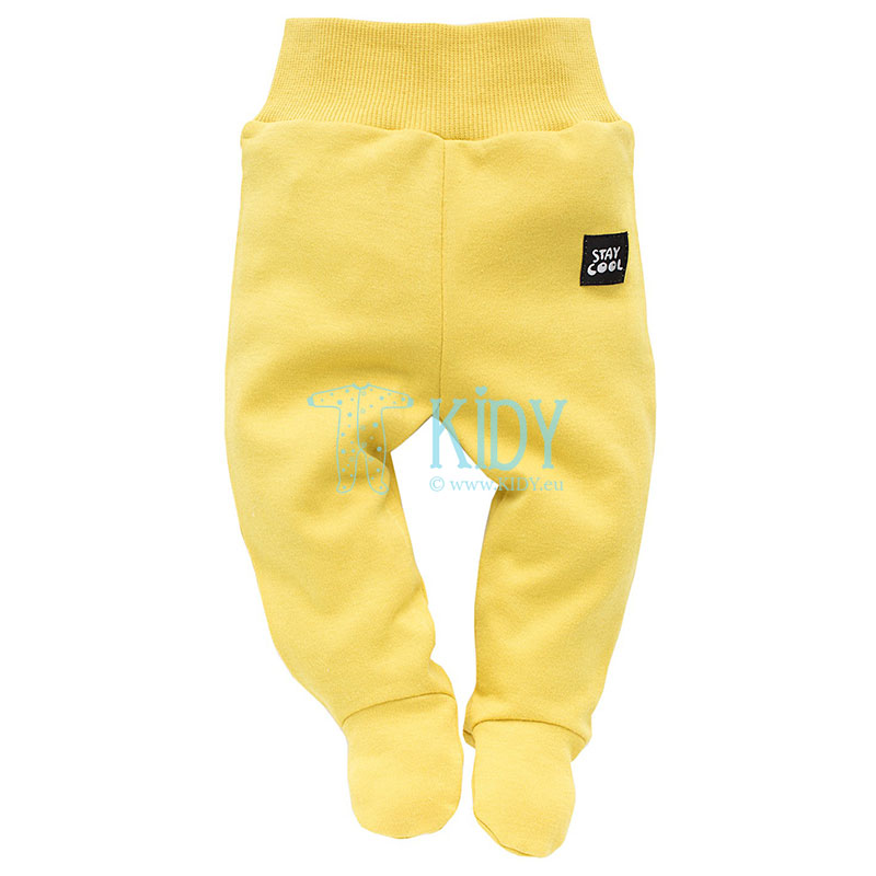 Lemon FUNNY DOG footed pants