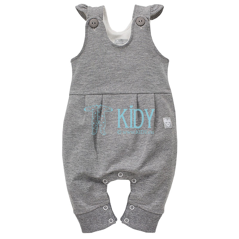 Grey UNICORN footless dungaree