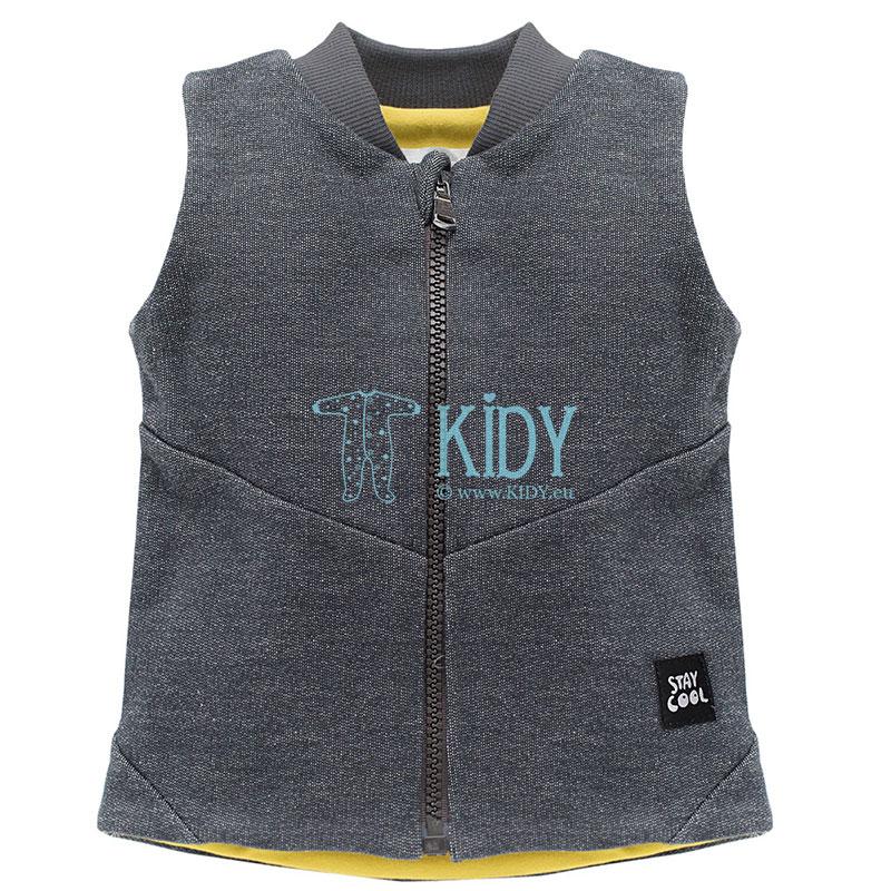 Grey FUNNY DOG vest