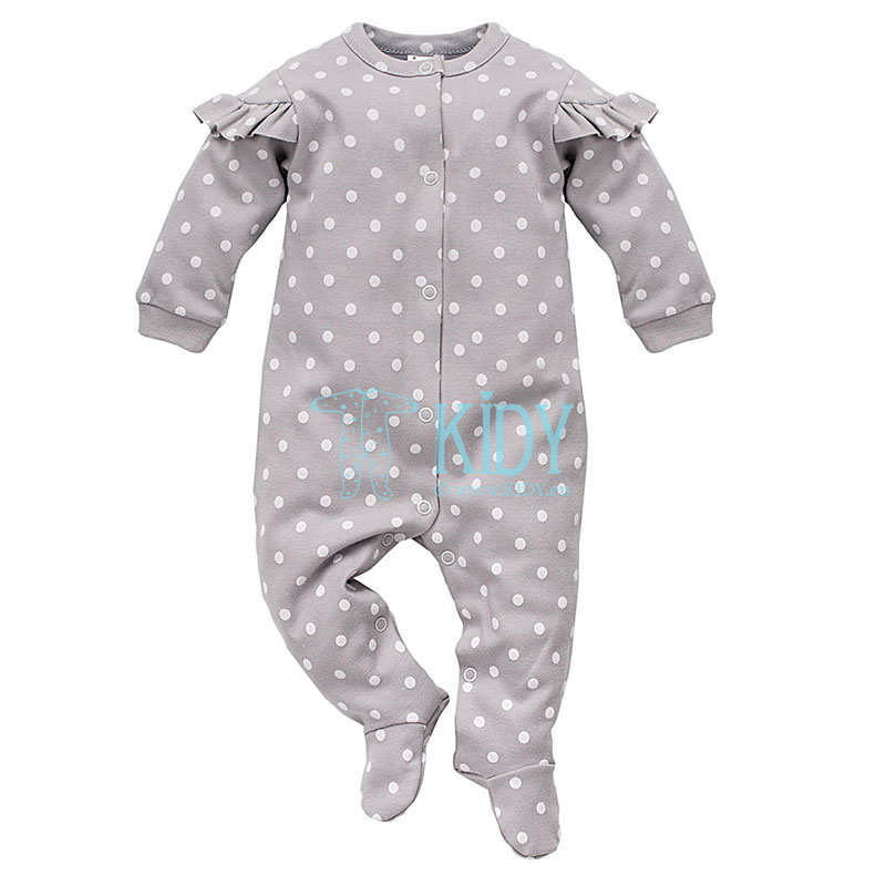 Grey UNICORN sleepsuit