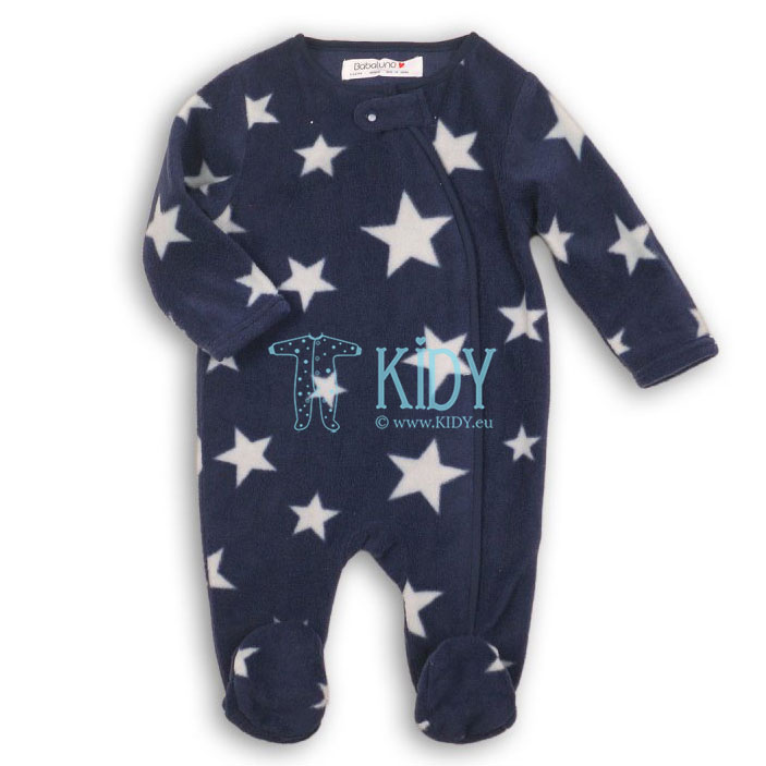 Navy microfleece LION sleepsuit