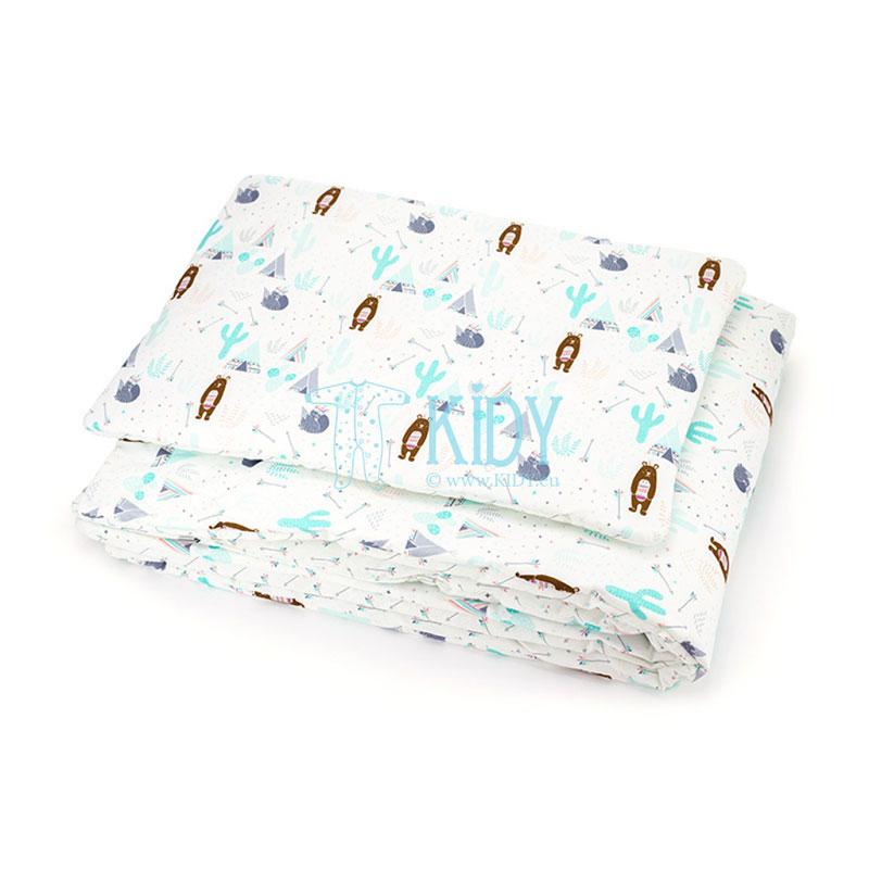 Patalynės komplektas Dziki Zachód: antklodė + pagalvė