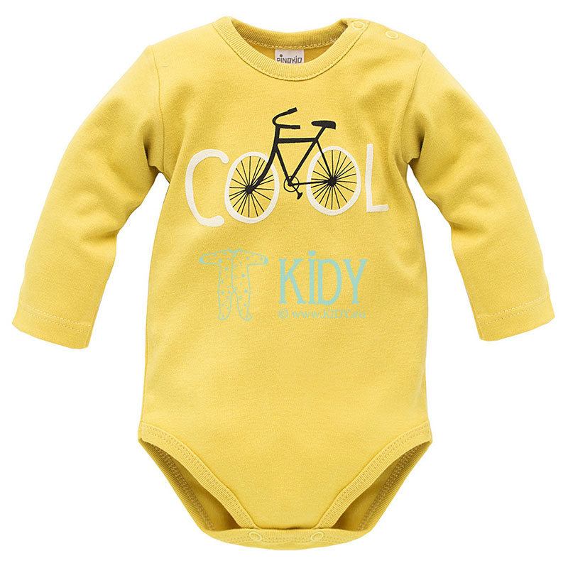 Yellow FUNNY DOG bodysuit