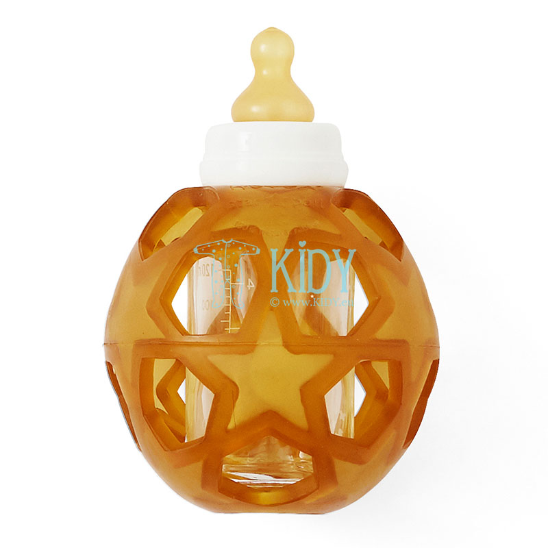 Baby glass bottle + STAR BALL NATURAL