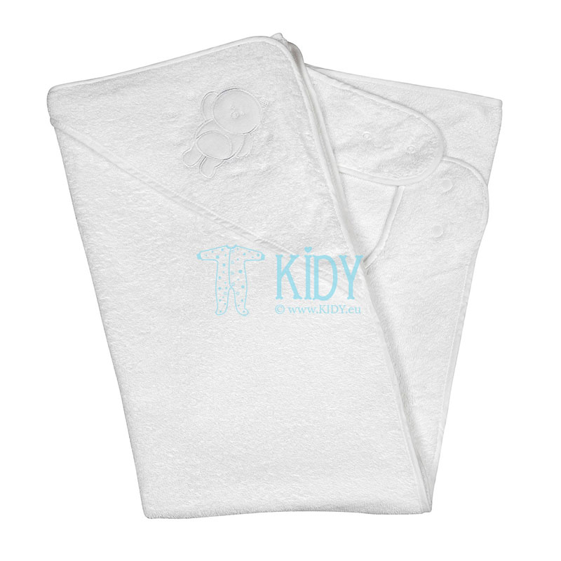 White SPLASH & WRAP hooded towel