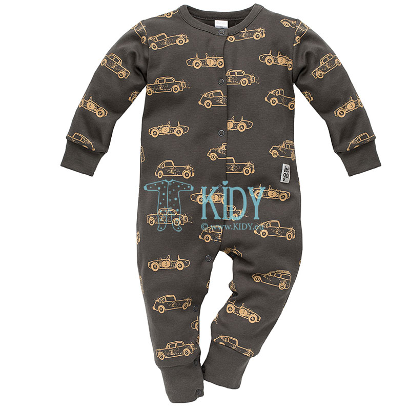 Brown OLD CARS sleepsuit (Pinokio)