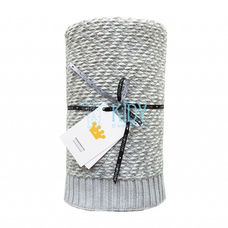 Grey knitted warm ROYAL LABEL plaid