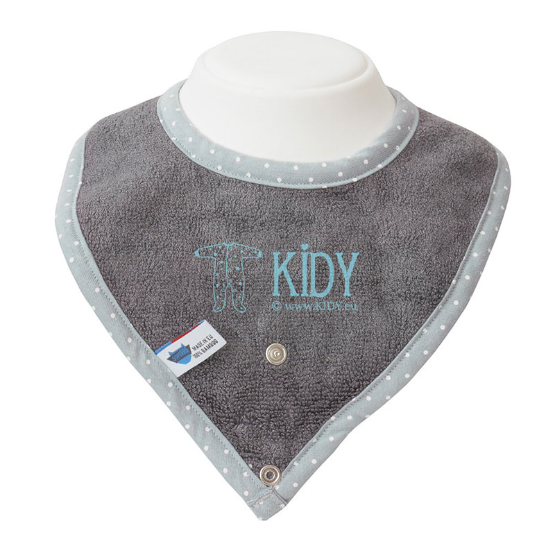Grey bamboo supeRRO bib