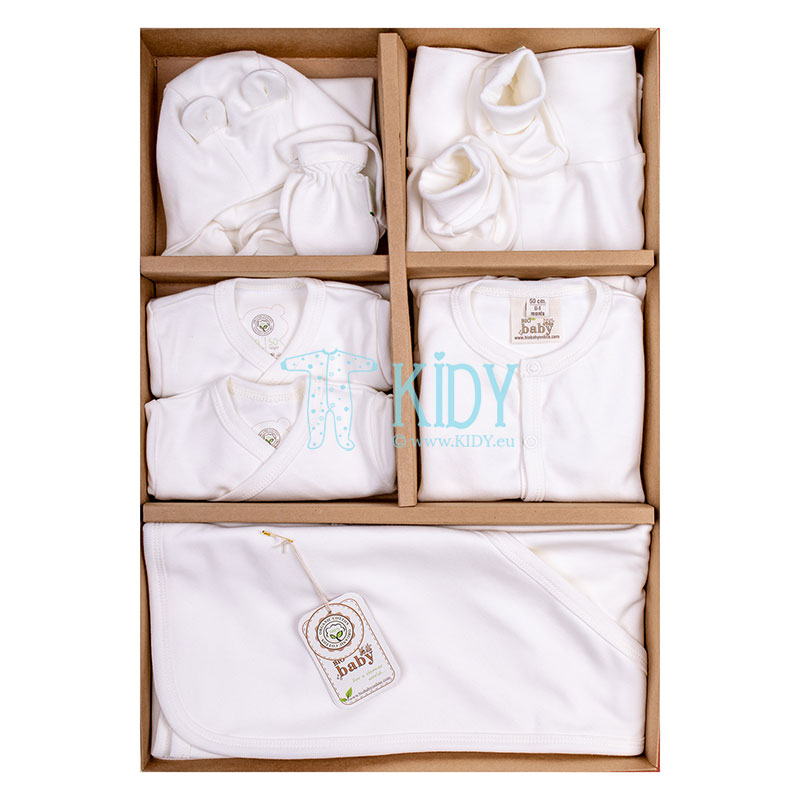 9 pcs ecru ORGANIC layette for newborns (BIO Baby)