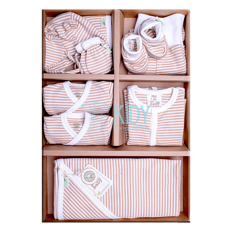 9 pcs striped ORGANIC set for newborns
