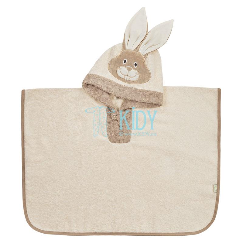 Hooded organic cotton PONCHO towel (BIO Baby)