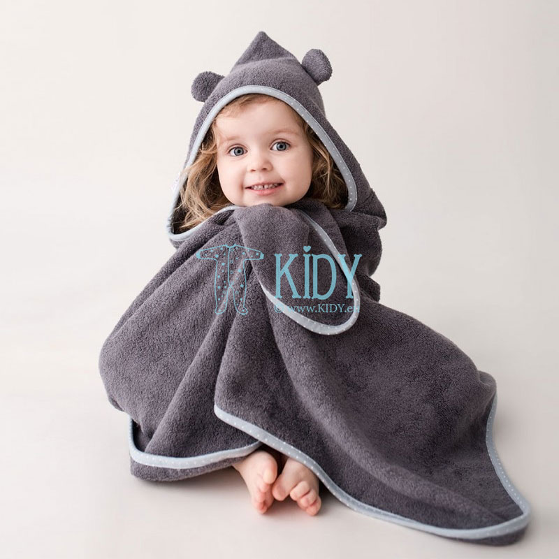 Grey baby bamboo supeRRO towel