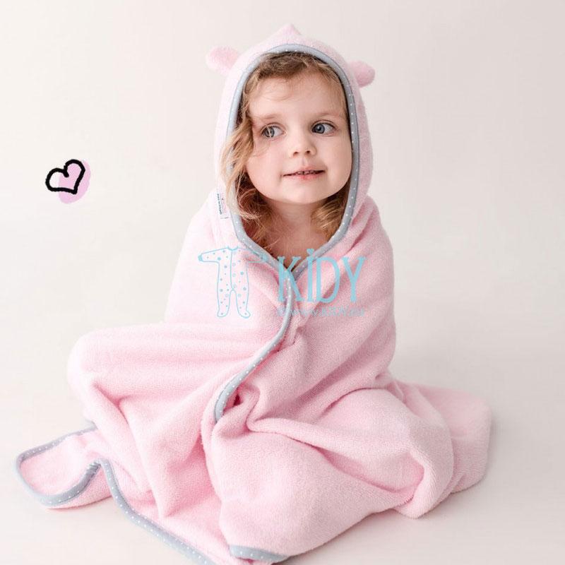 Розовое детское бамбуковое полотенце supeRRO
