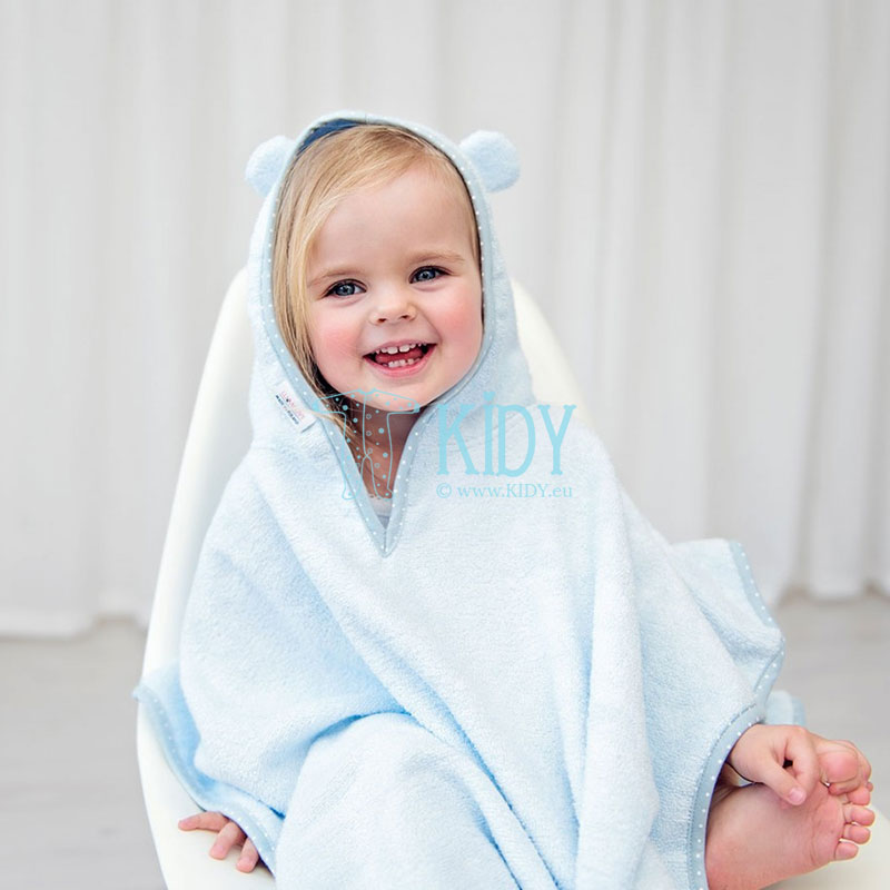 Blue bamboo supeRRO poncho towel