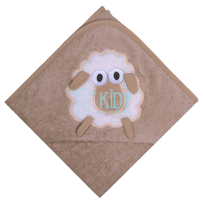 Hooded organic cotton SHEEP towel