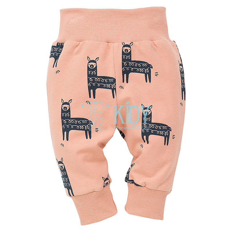 Orange HAPPY LLAMA pants