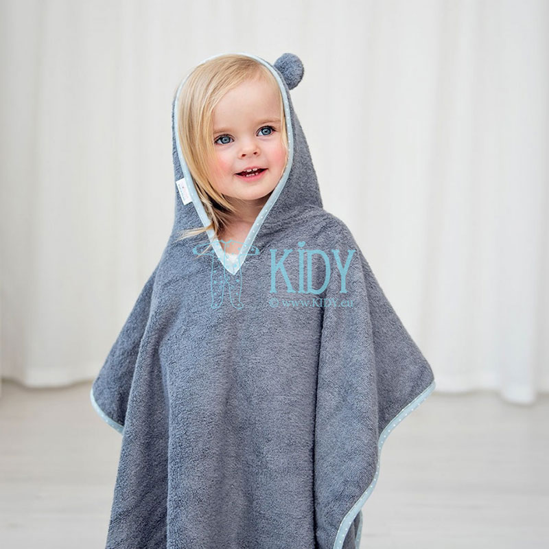 Grey bamboo supeRRO poncho towel
