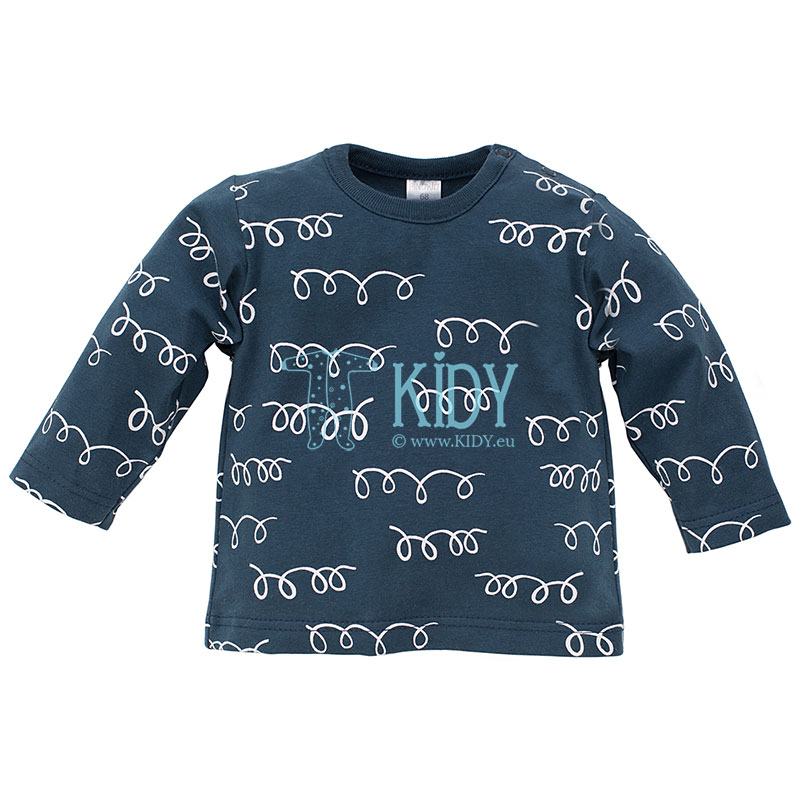Navy HAPPY LLAMA top