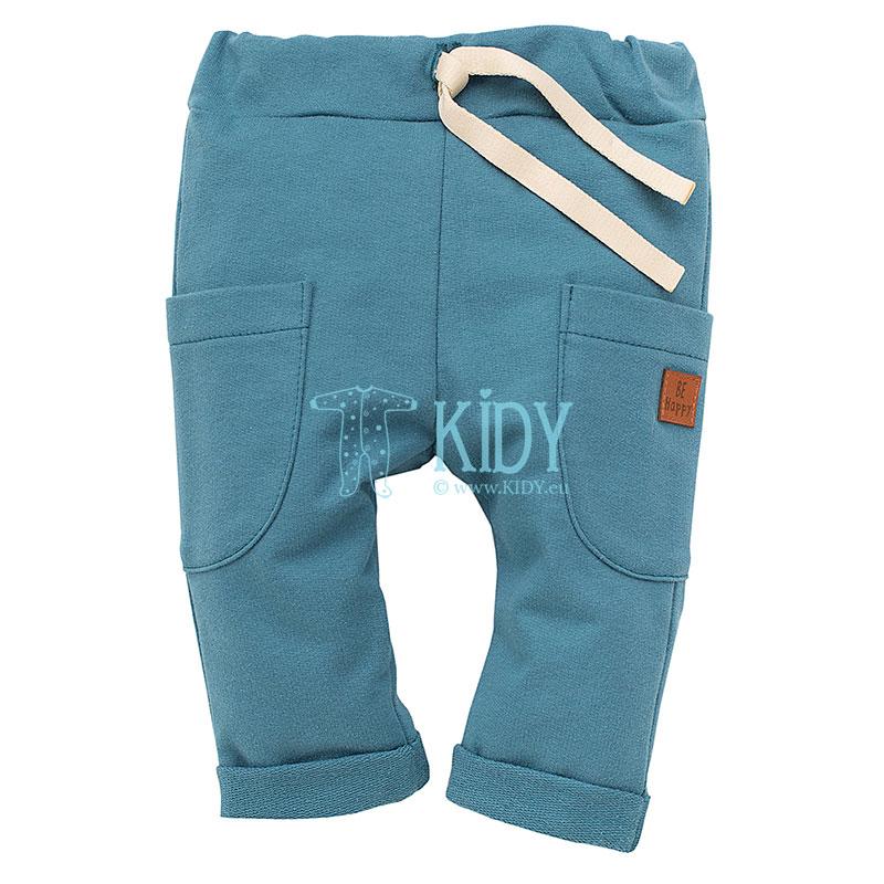 Turquoise HAPPY LLAMA pants