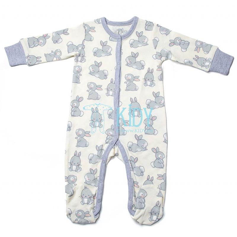 Creamy LITTLE BUNNY sleepsuit