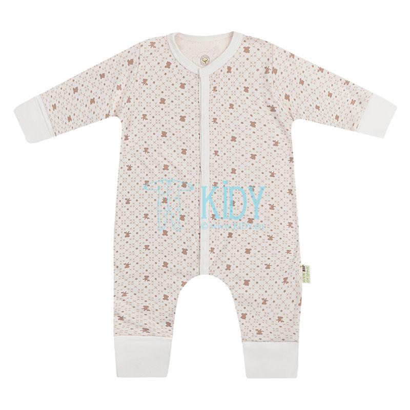 Ecru kombinezonas-pižama ORGANIC