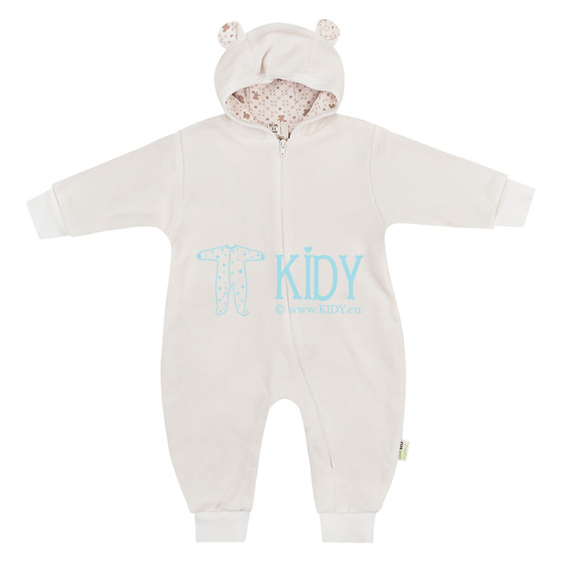 Ecru velour ORGANIC playsuit