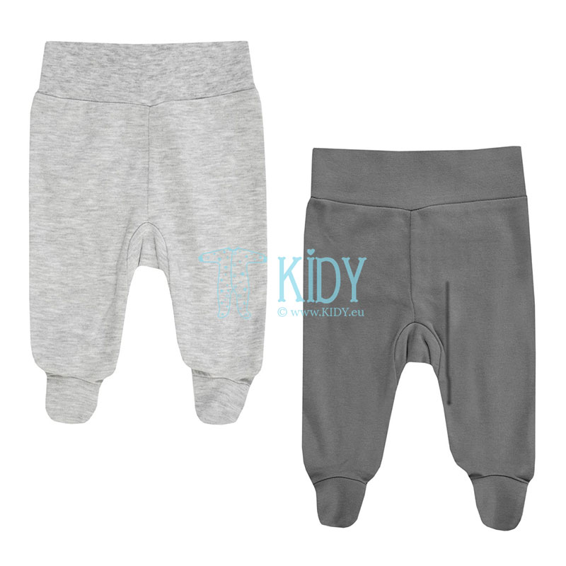 2pcs BIG HUGS footed pants set