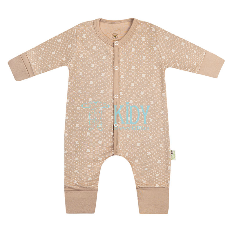 Brown ORGANIC sleepsuit