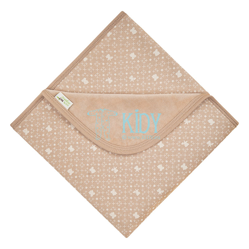 Double sided velour and jersey baby blanket made of organic cotton