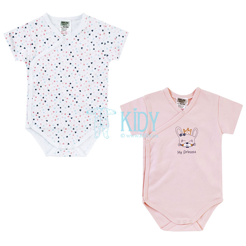 2pcs shortsleeved MY PRINCESS kimono bodysuit pack