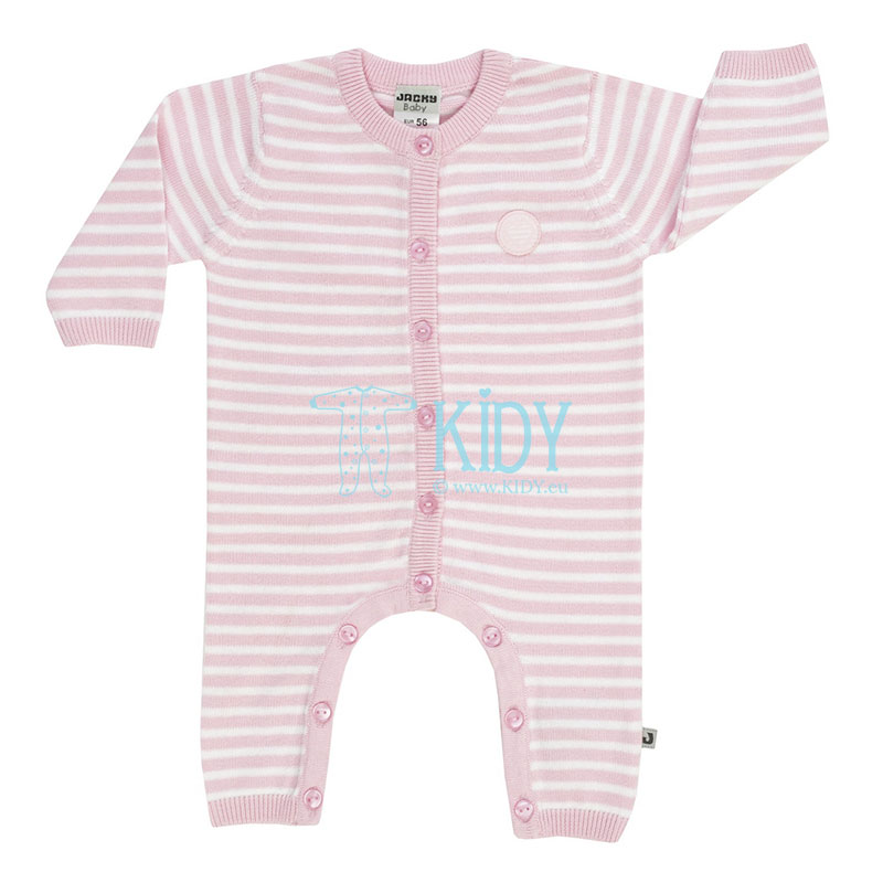 Pink knitted HEARTS overall
