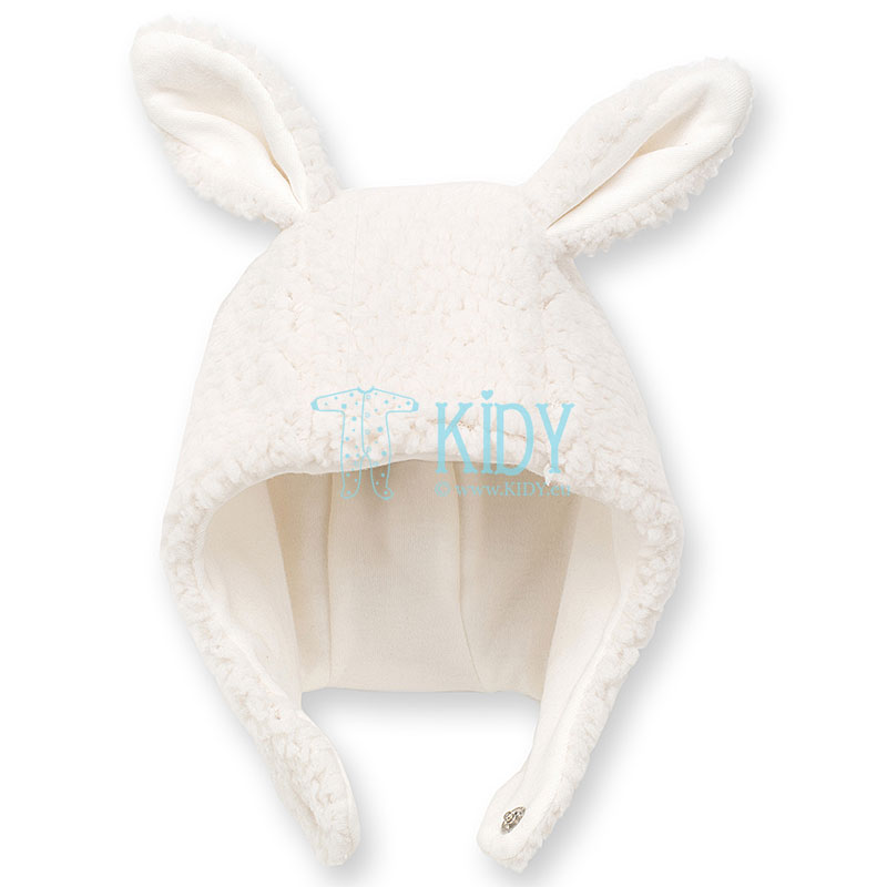 White warm HAPPY LLAMA hat
