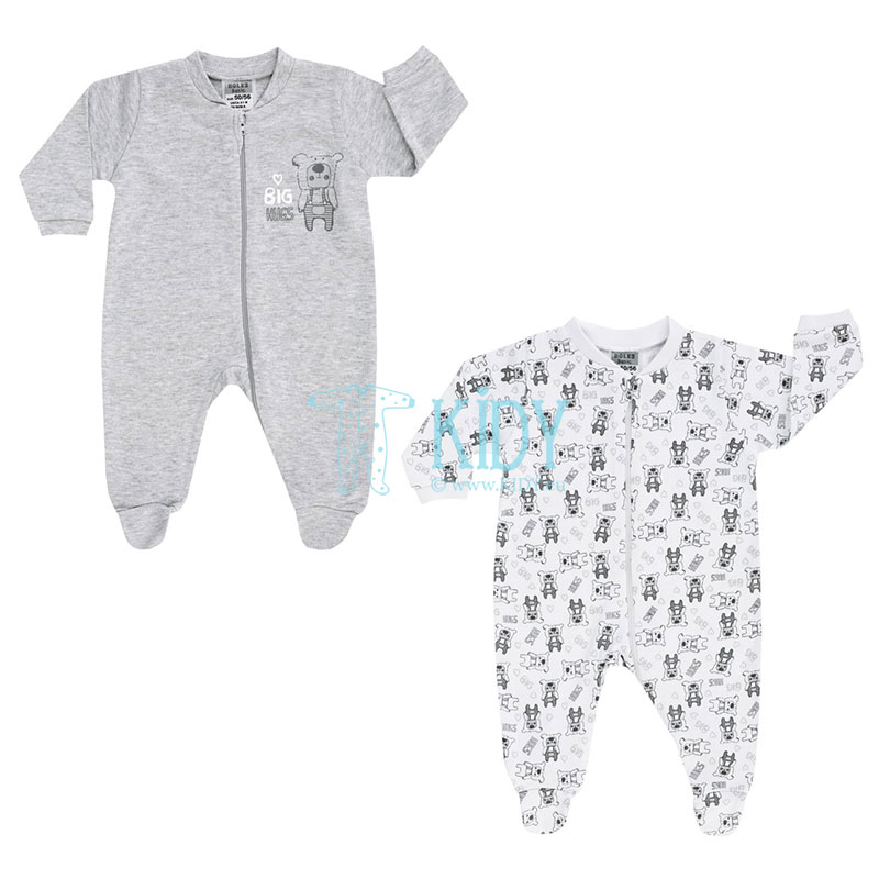 2 pcs BIG HUGS sleepsuit pack