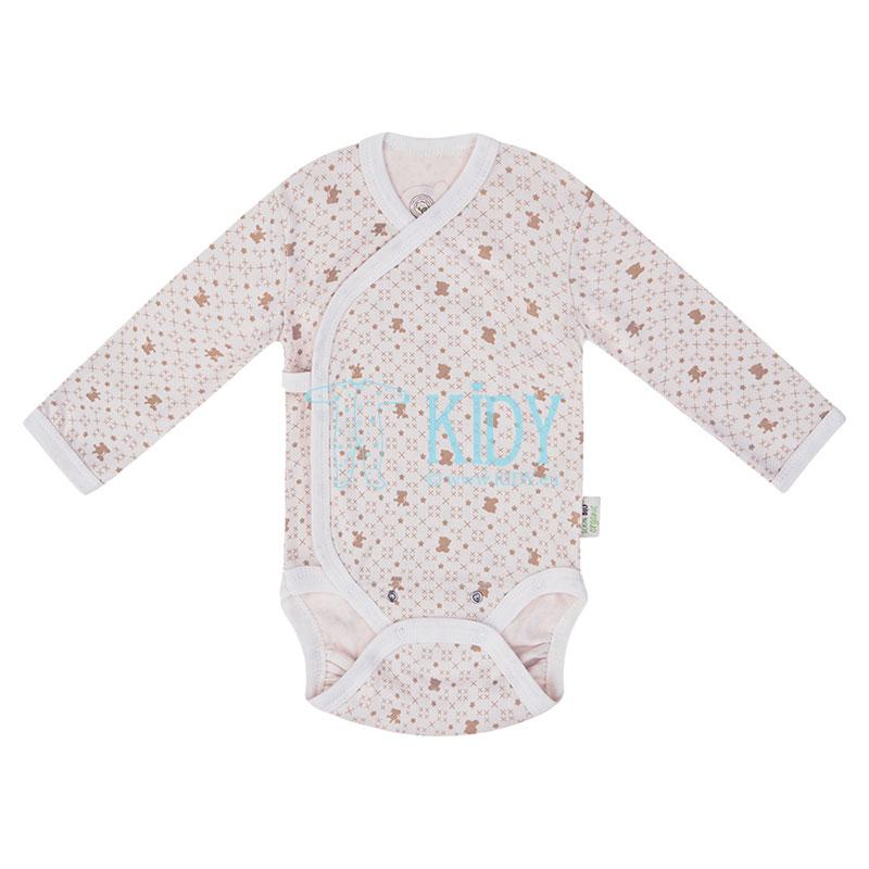 ORGANIC kimono bodysuit with mitts