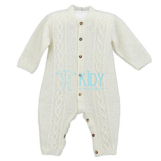 Ecru merino wool PIPPINO overall (Lorita)