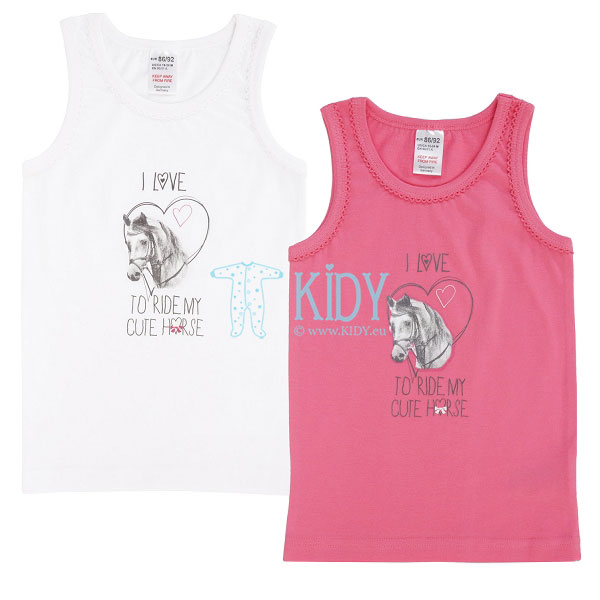 2pcs GIRLS vest underwear pack