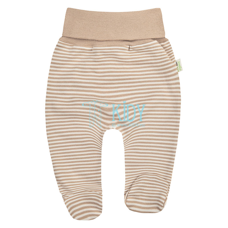 Striped ORGANIC footed pants