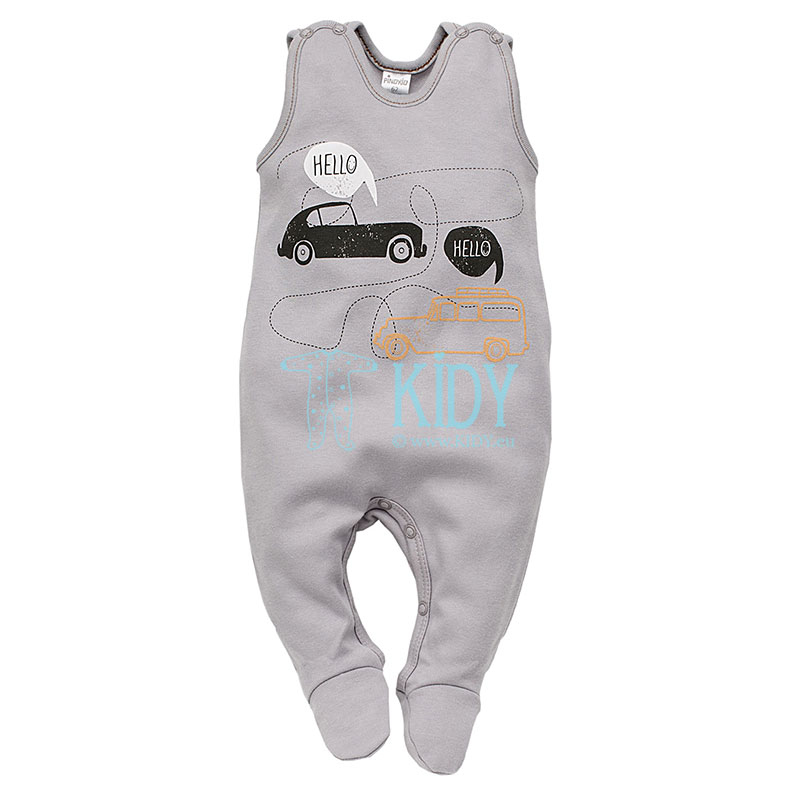 Grey OLD CARS dungaree