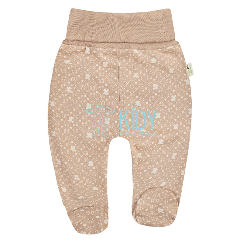 Brown ORGANIC footed pants