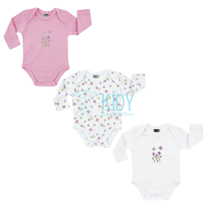 3pcs FLOWERS bodysuit pack