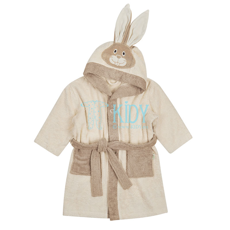 Organic cotton BUNNY bathrobe for babies