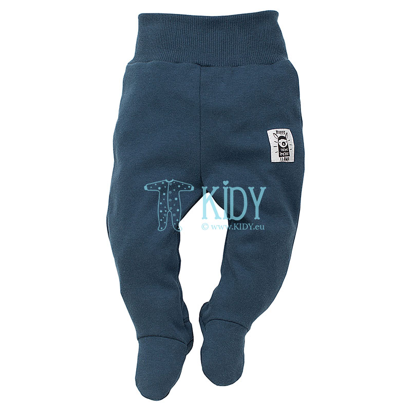 Navy HAPPY LLAMA footed pants