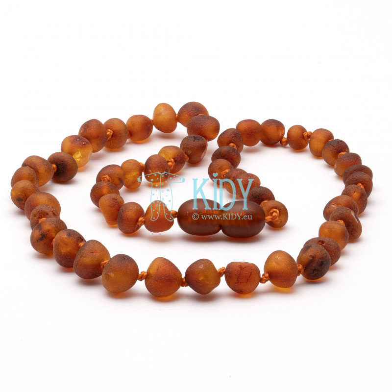 Amber COGNAC teething beads