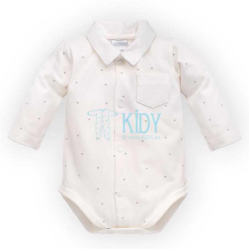 Ecru PRINCE shirt bodysuit