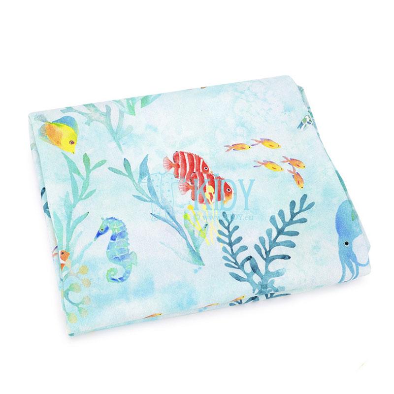 Голубая бамбуковая пеленка Ocean
