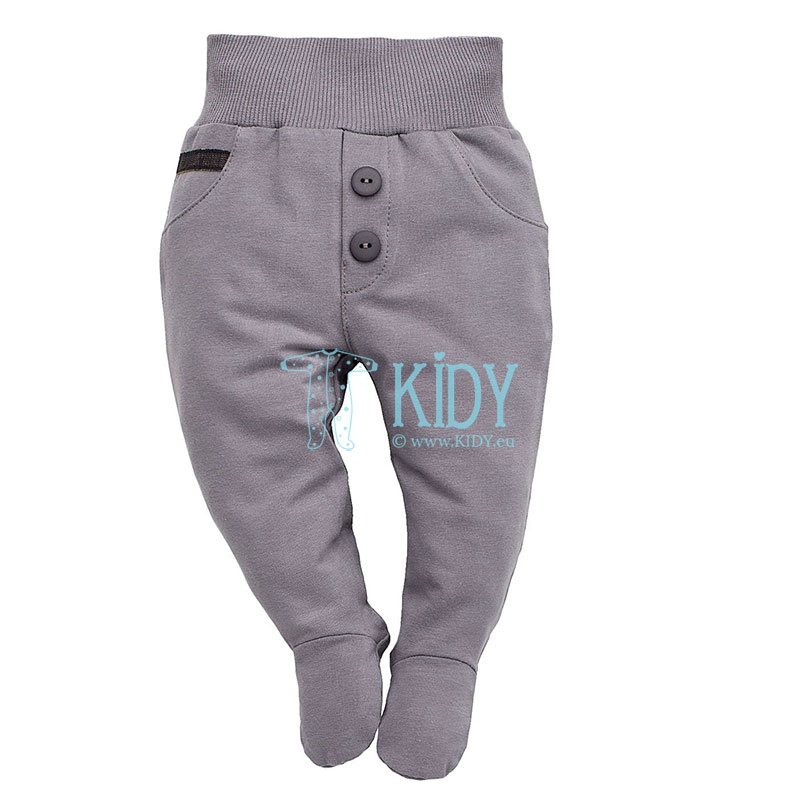 Grey PRINCE footed pants