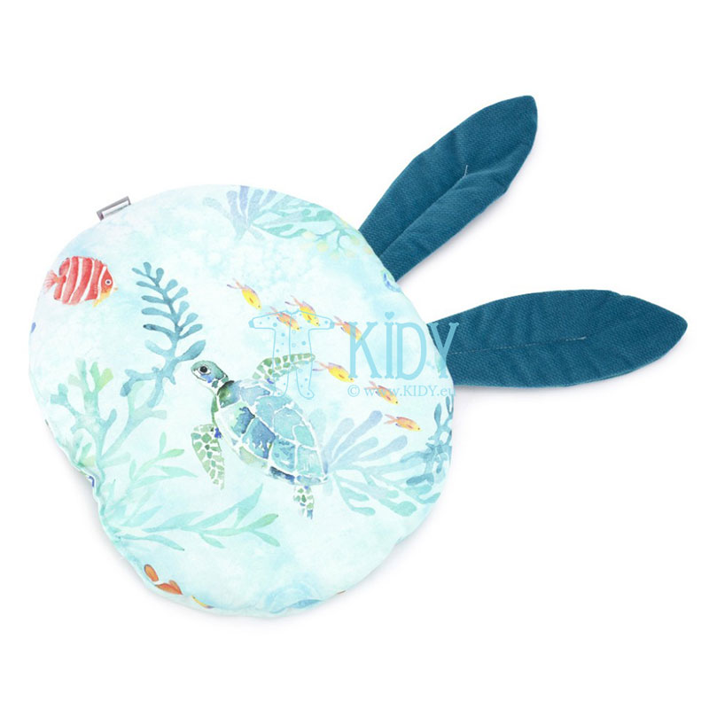 Blue Ocean pillow with ears