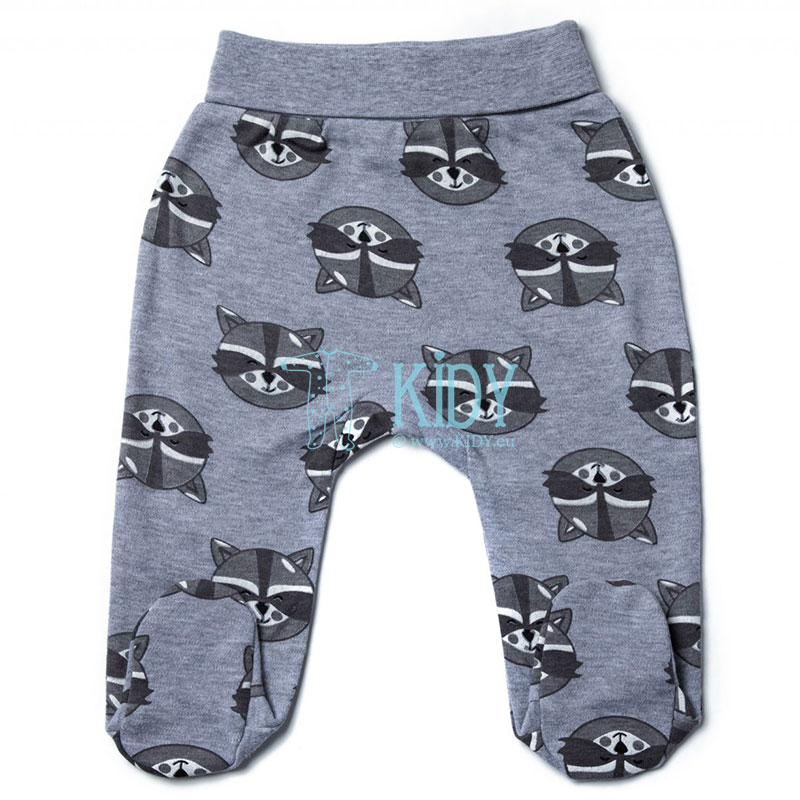 Grey RACOON footed pants